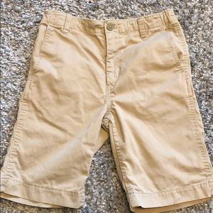 Gap kids boys size 14 flat front khaki shorts